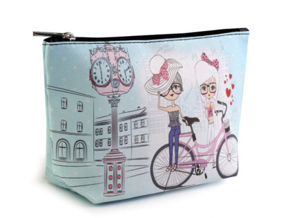 Kosmētikas soma Cosmetic Bag 13x23 cm with Motif