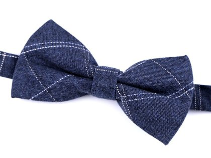 Kokvilnas tauriņš Cotton Checkered Bow Tie