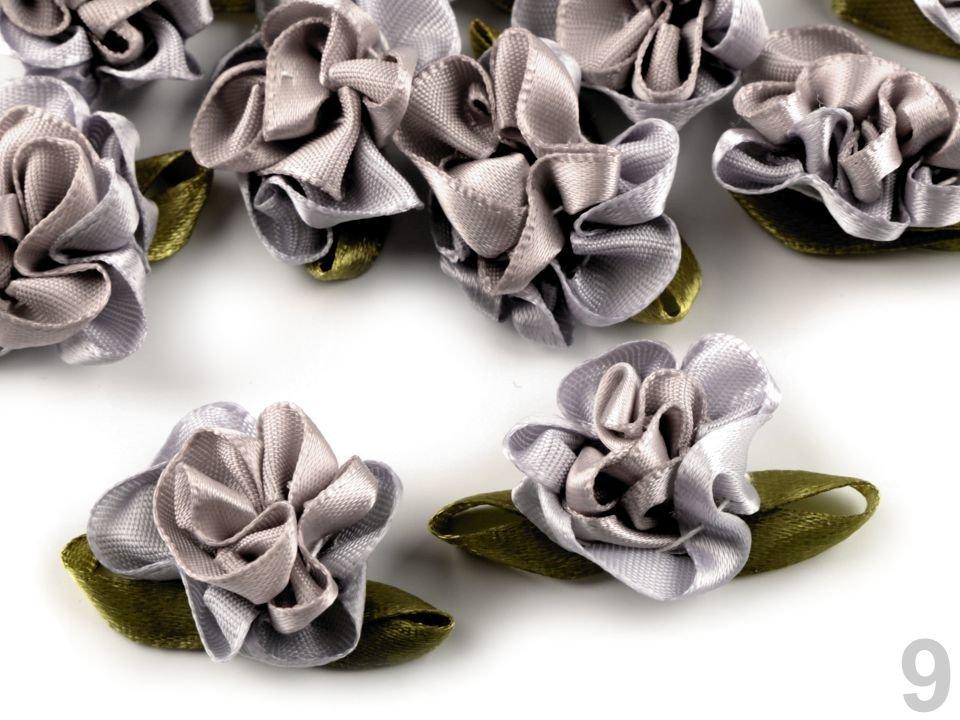 Dekoratīvā satīna puķe Satin Flower 22x35 mm