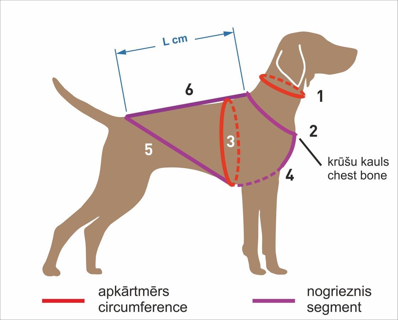 RACEDOG polsterēti atstarojoši suņu iemaukti HALF