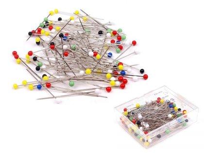 Kniepadatas, saspraudītes Glass Head Pins length 48 mm Galant