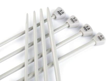 Set of Straight Knitting Needles 2.5; 3; 3.5; 4