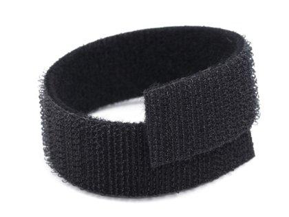Velcro lenta 20 mm melna / balta kabeļiem / vadiem width 20 mm black / white