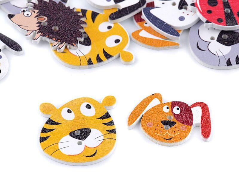 Wooden Decorative Button Animals