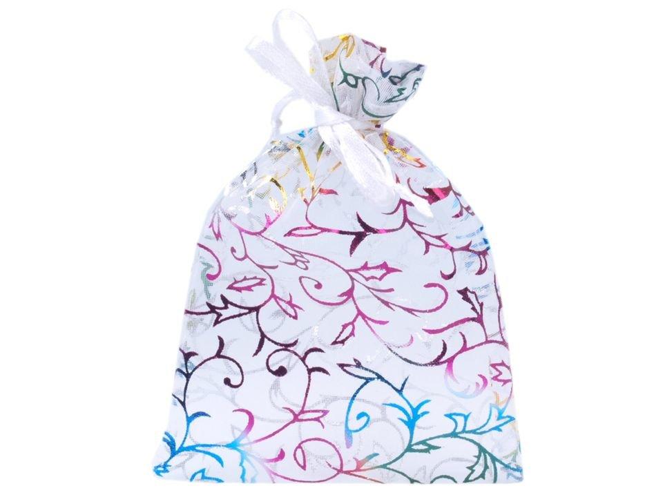 Organza dāvanu maisiņš 8.5x12.5 cm krāsains ar lurex