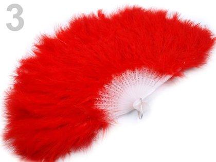 Spalvu vēdeklis Feather Hand Fan