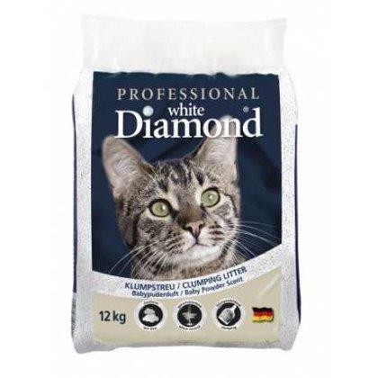 Kaķu cementējošās smiltis Professional White Diamond (12kg)