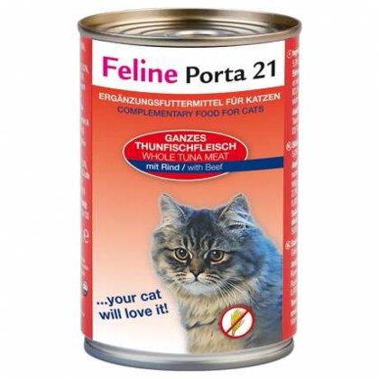 Feline Porta 21 ar tunci & liellopa gaļu
