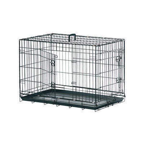 Dog box with 2 doors Flamingo 93x57x62 cm black