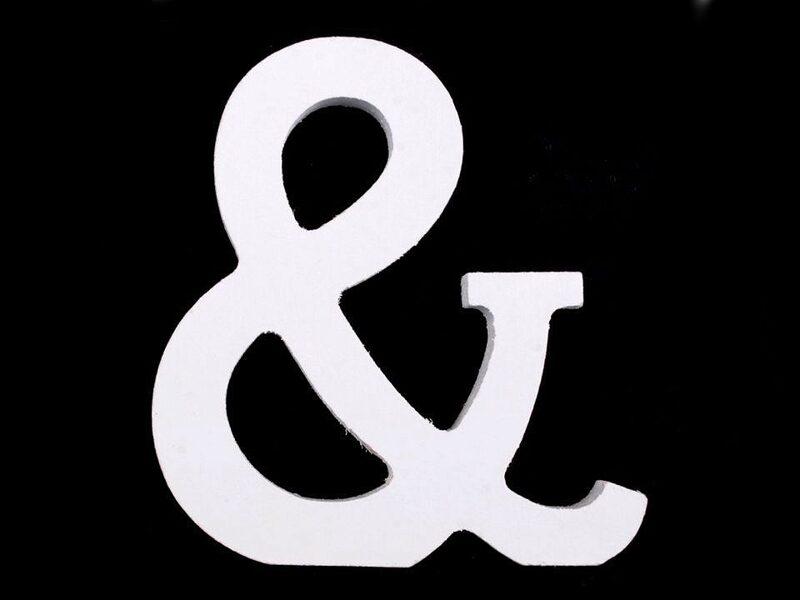 """3D Decorative wood Letter """"&"""" 8cm"""