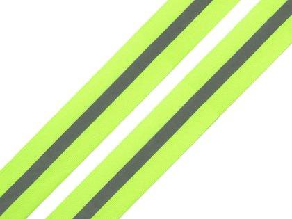 Atstarojoša lenta Reflective webbing tape width 30mm on fabric