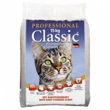Kaķu cementējošās smiltis Professional Classic ar bērnu pūderi