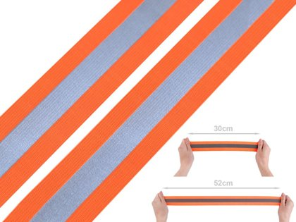 Atstarojoša elastīgā lenta Elastic Tape with Reflective Stripe width 40 mm
