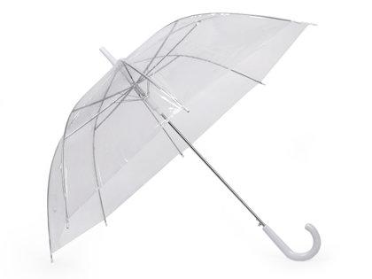 Sieviešu caurspīdīgs lietussargs (uz vietas)