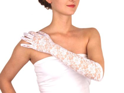 Cimdi Long Formal Lace Gloves
