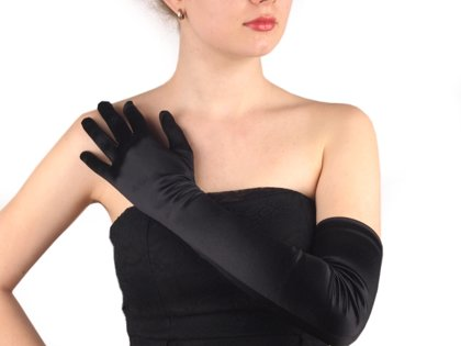 Cimdi Long Formal Satin Gloves