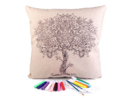 Krāsojama spilvendrāna DIY Art Coloring Pillow Cover