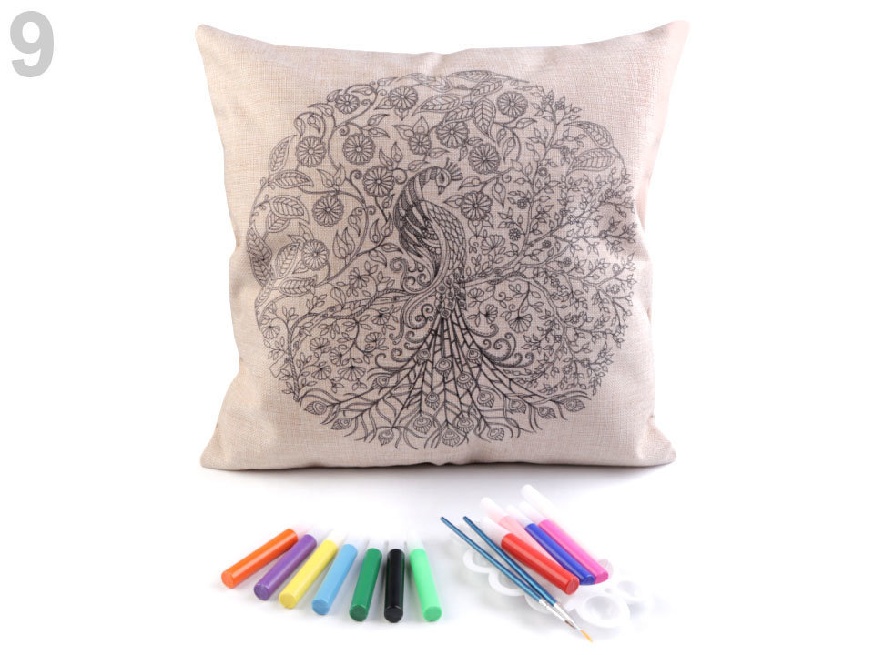 Krāsojama spilvendrāna DIY Art Coloring Pillow Cover