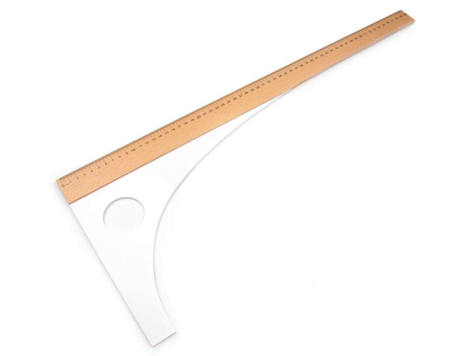 Drēbnieku / šuvēju mērlente Tailor's Ruler 60 cm, 80 cm