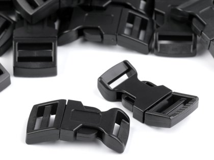 Plastmasas sprādze Side release Buckle with Strap Adjuster width 15 mm