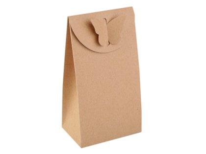 Papīra / kartona maisiņš ar taurenīti komplekts