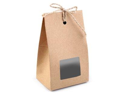 Papīra maisiņš ar logu un striķīti