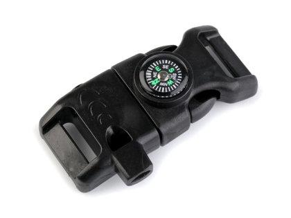 Plastmasas sprādze ar kompasu 15 mm