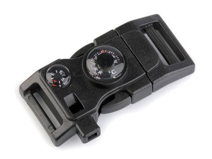 Plastmasas sprādze ar kompasu 20 mm