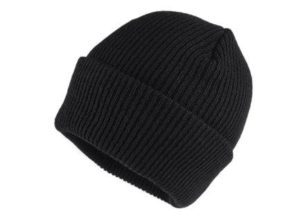 Ziemas cepure adīta melna
