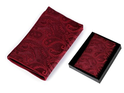 Kabataslakatiņš Pocket Handkerchief in Box Paisley