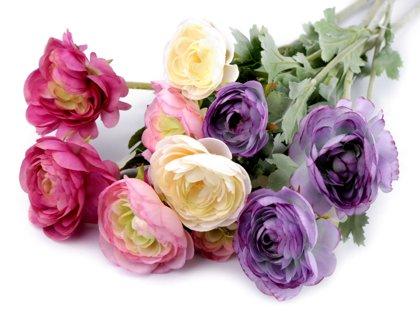 Dekoratīvās puķes Artificial Buttercup for Floral Arranging