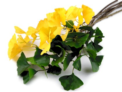 Dekoratīvās puķes Artificial Twig Ginko Biloba Floral Decor