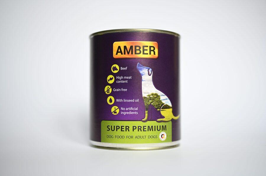 Amber konservi suņiem ar liellopu