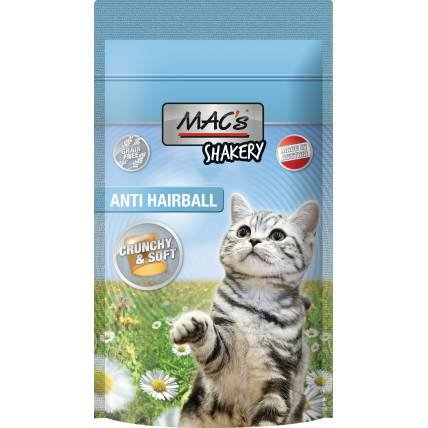Kaķu kārumi MAC's Shakery Anti Hairball 60g