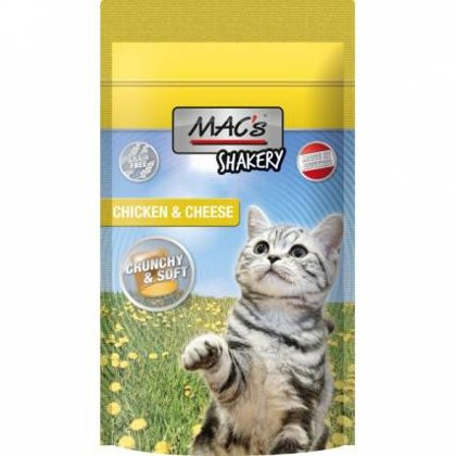 Kārums kaķiem - MAC's Shakery Chicken & Cheese 60 g