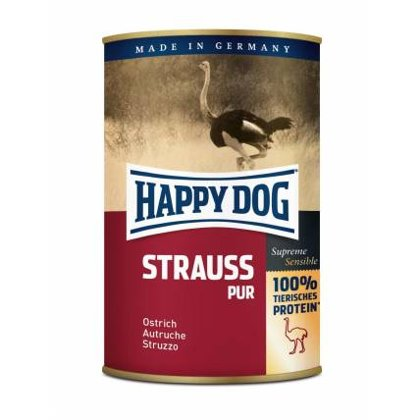 Happy Dog Strauss Pur (strausa gaļa)