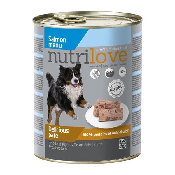 Konservi suņiem Nutrilove Salmon 800 g