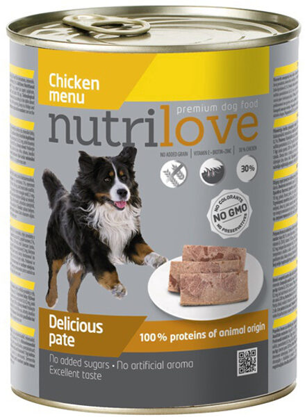 Nutrilove wet food chicken 800 g