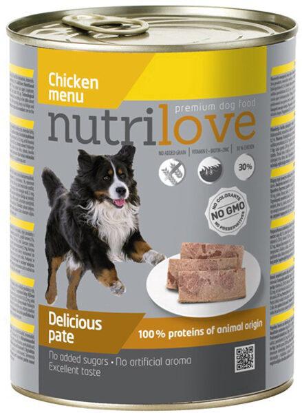 Konservi suņiem Nutrilove Chicken 800 g