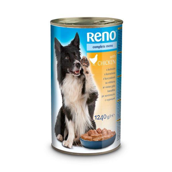 Mitrā barība konservi suņiem RENO komplekts 12,4 kg