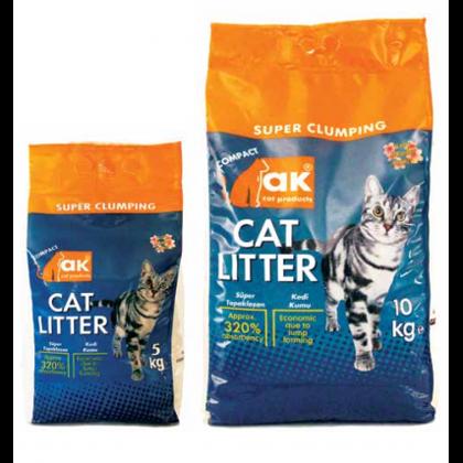 Kaķu smiltis AK Cat ar bērnu pūderi
