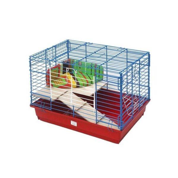 Box for rabbits 2 levels 60x40x41 cm