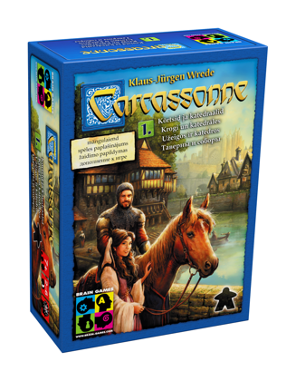 "Galda spēles ""Carcassonne"" (Karkasone) paplašinājums ""Carcassonne: Inns & Cathedrals"" (Karkanose: Krogi un Katedrāles)"