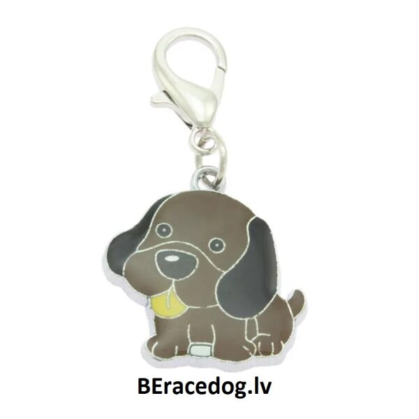 Charm Doggie Brown pendant set