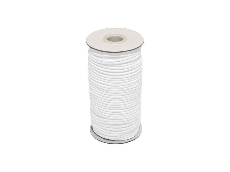 Elastīga poliestera aukla 2 mm balta 100 m