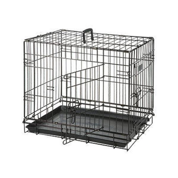 Dog box with 2 doors Flamingo 77x54x47 cm black