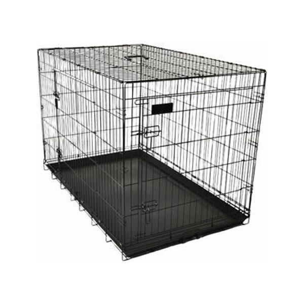 Dog metal box with 2 doors EBO M 47x77x55cm