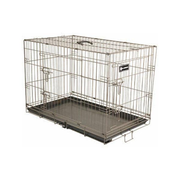 Dog box with 2 doors Flamingo EBO M 47x77x55cm taupe
