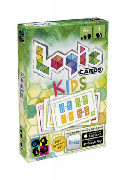 Brain Games Logic Cards Kids ZAĻA (ir uz vietas)