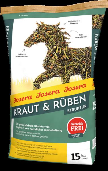 Josera Kraut & Ruben Struktur 15 kg barība zirgiem